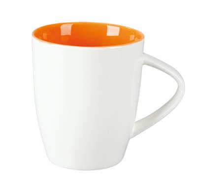 Kubek JOY (002KMPKB) - Pomarańczowy/Królewska biel