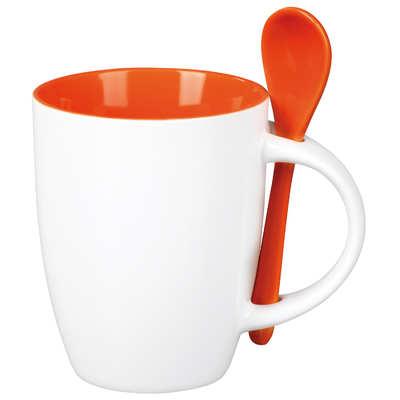 Kubek EASY (067KMPB) - Pomarańczowy/Biały