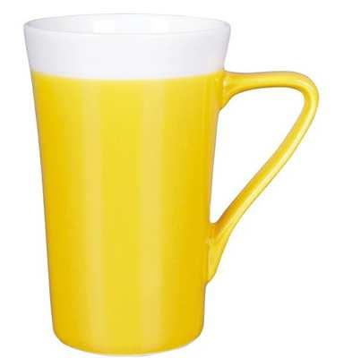 Kubek SLIM LADY (012KMZUB) - Żółty/Biały