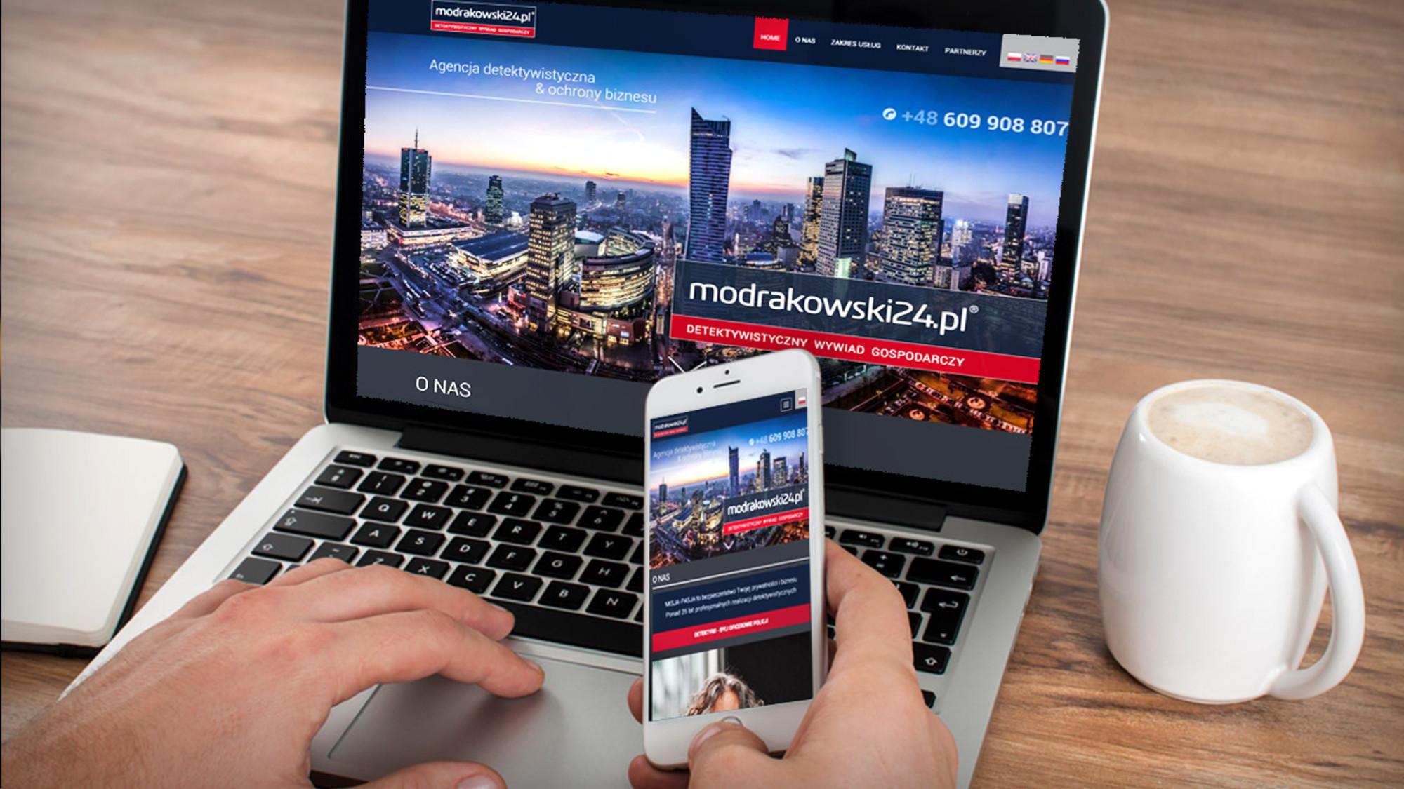 Projektowanie stron Warszawa dla Modrakowski24.pl