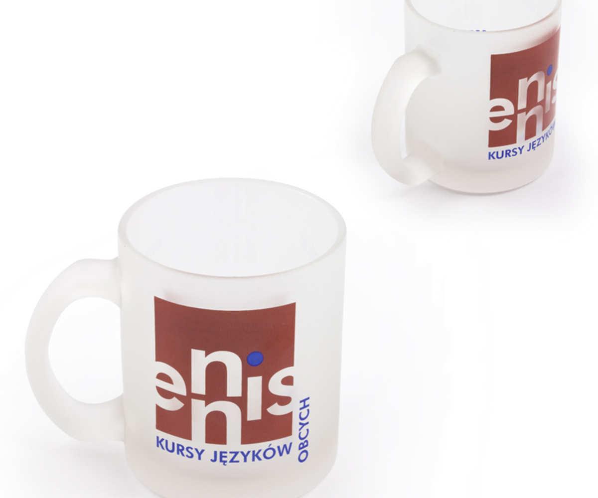 Kubki reklamowe dla ENNIS - kursy językowe (Będzin)