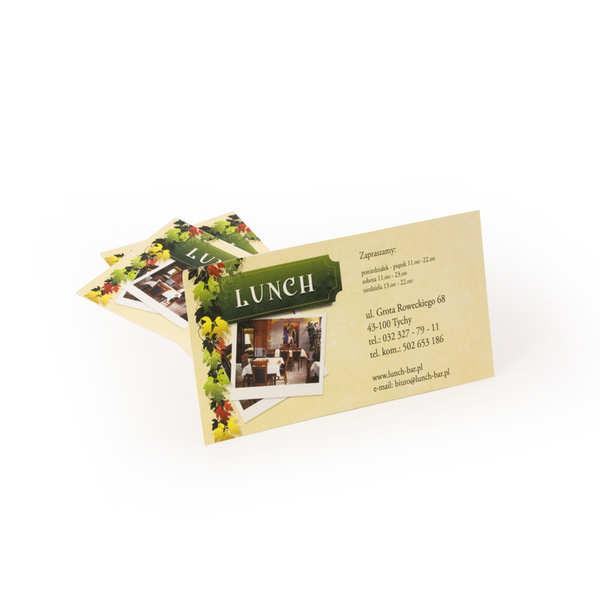 Wizytówki Tychy dla Restauracja LUNCH