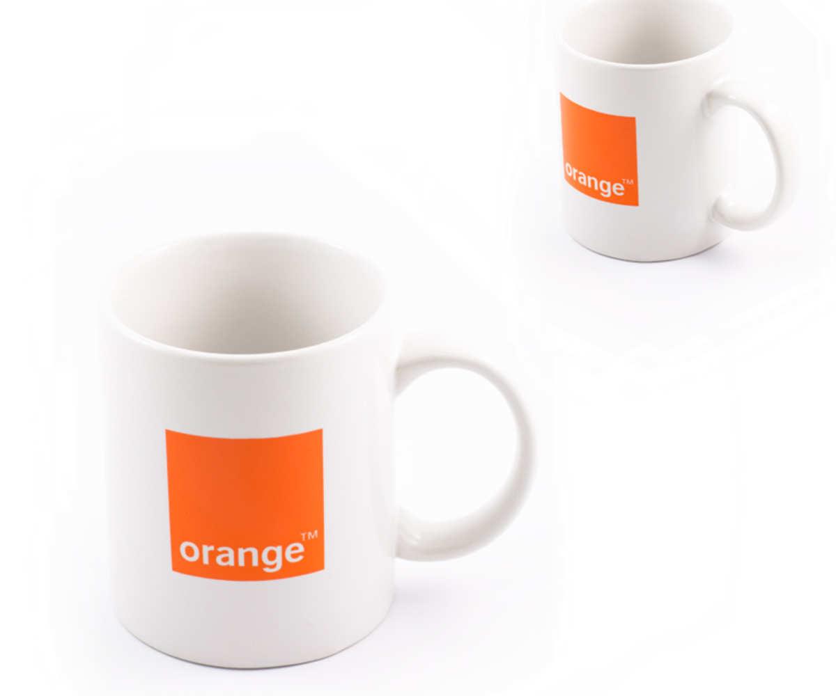 Kubki reklamowe dla Orange (Białystok)