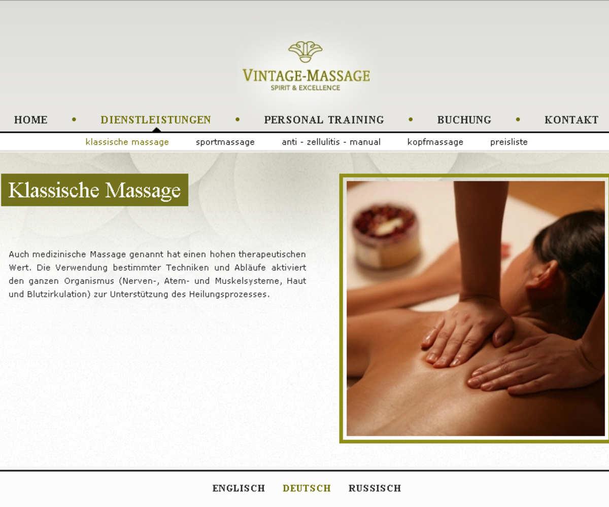 Zurich / Szwajcaria dla Vintage-massage