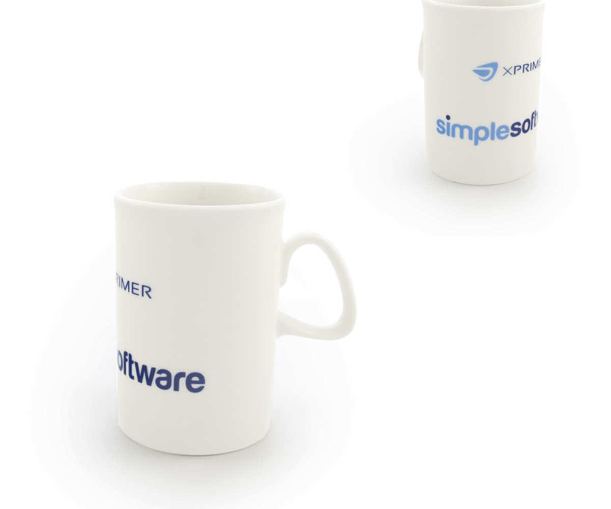 Kubki reklamowe dla SIMPLE Software (Dąbrowa Górnicza)