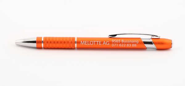 Długopisy reklamowe Szwajcaria dla Melotte Łukasz Szarek