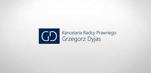 Projektowanie logo Katowice dla Kancelaria Radcy Prawnego Grzegorz Dyjas