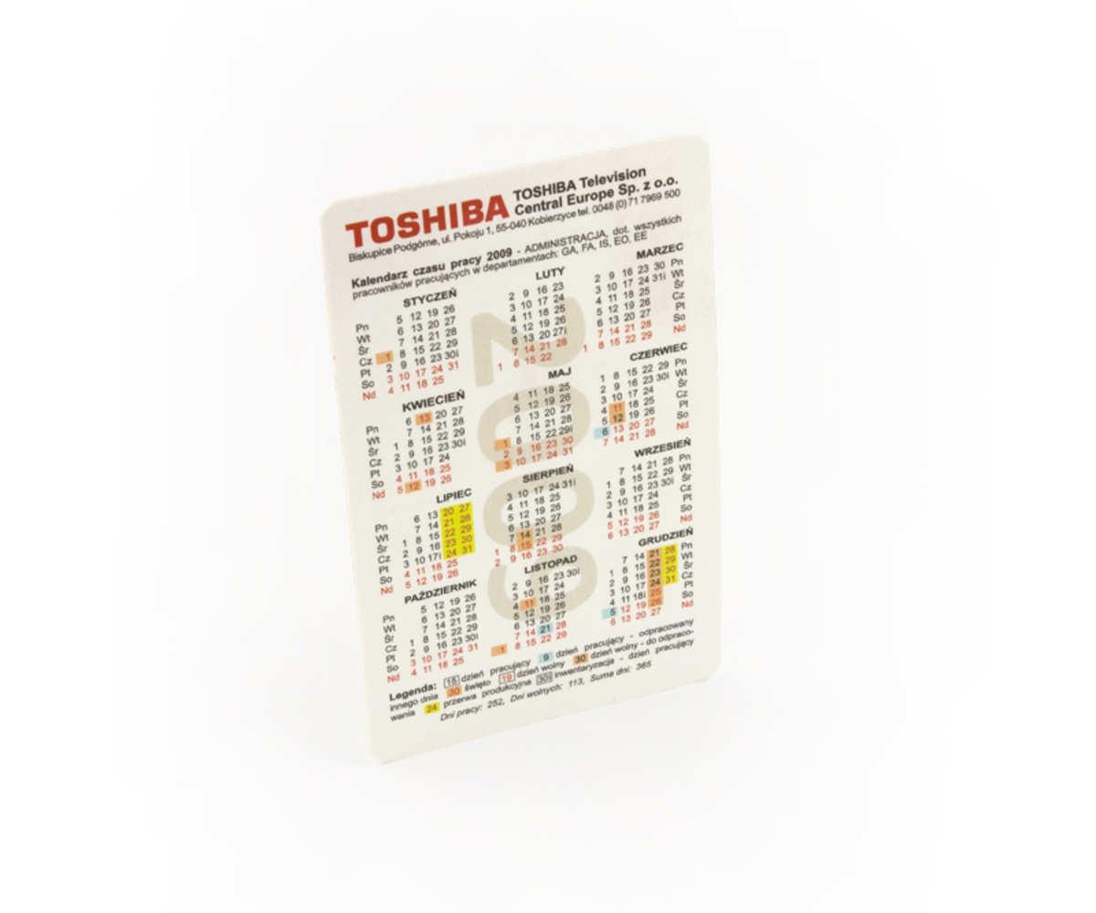 Kobierzyce dla Kalendarzyk TOSHIBA